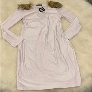 Dresses & Skirts - Gamiss White Fur Midi dress size medium